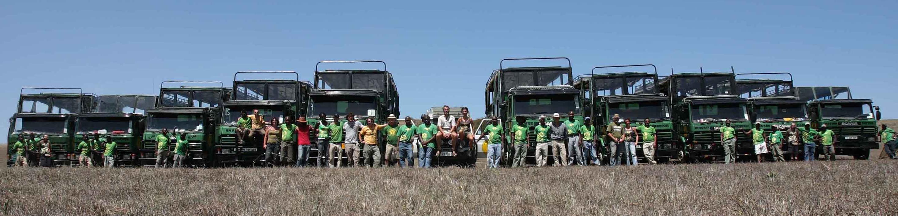 Kananga dispone de una flota de camiones propia para facilitar nuestro servicio en África