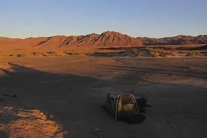 Wild camping Namibia